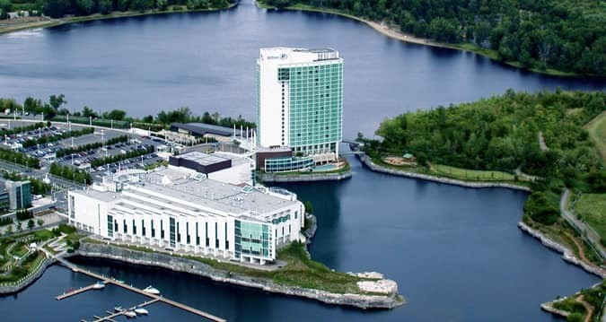 Hilton Lac-Leamy building and property from the air