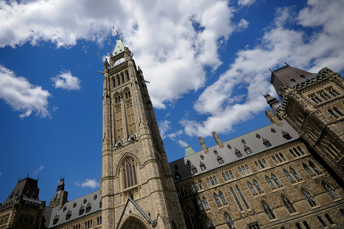 A photo of the Peace Tower