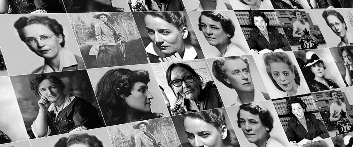 collage of prominent Canadian women