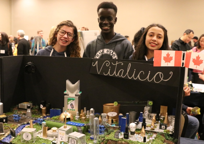 Canadian students at Future City