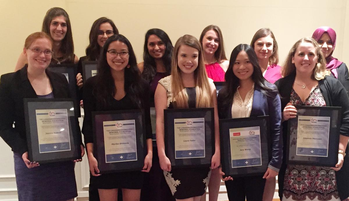 Scholarships For Women >> Canadian Engineering Memorial Foundation Presents Awards And