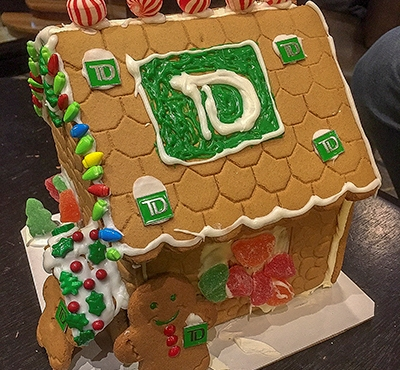 TD Insurance gingerbread house