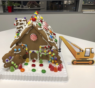 AON  gingerbread house