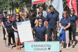 Engineers Canada staff at Big Bike charity event