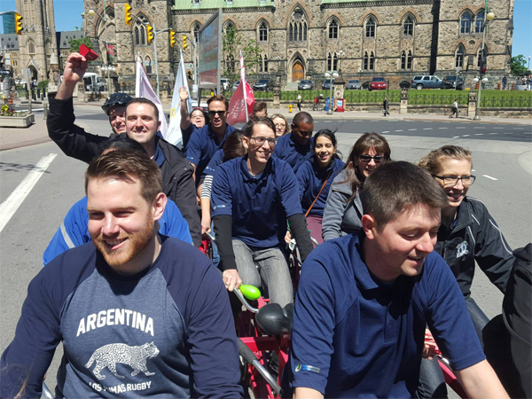 engineers canada staff participating in big bike race