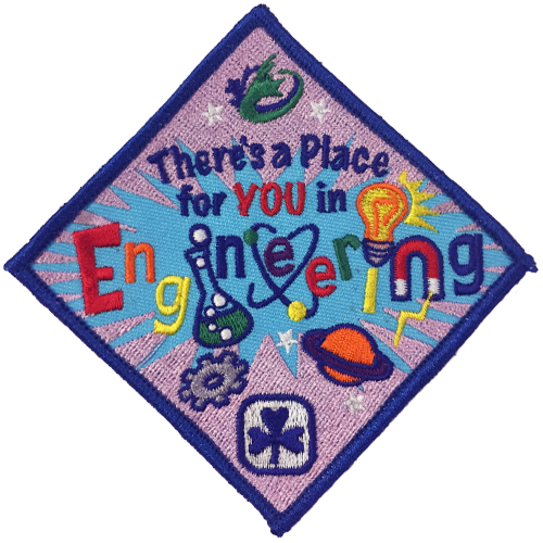 Girl Guides crest, to be presented to Girl Guides who complete engineering-related activities
