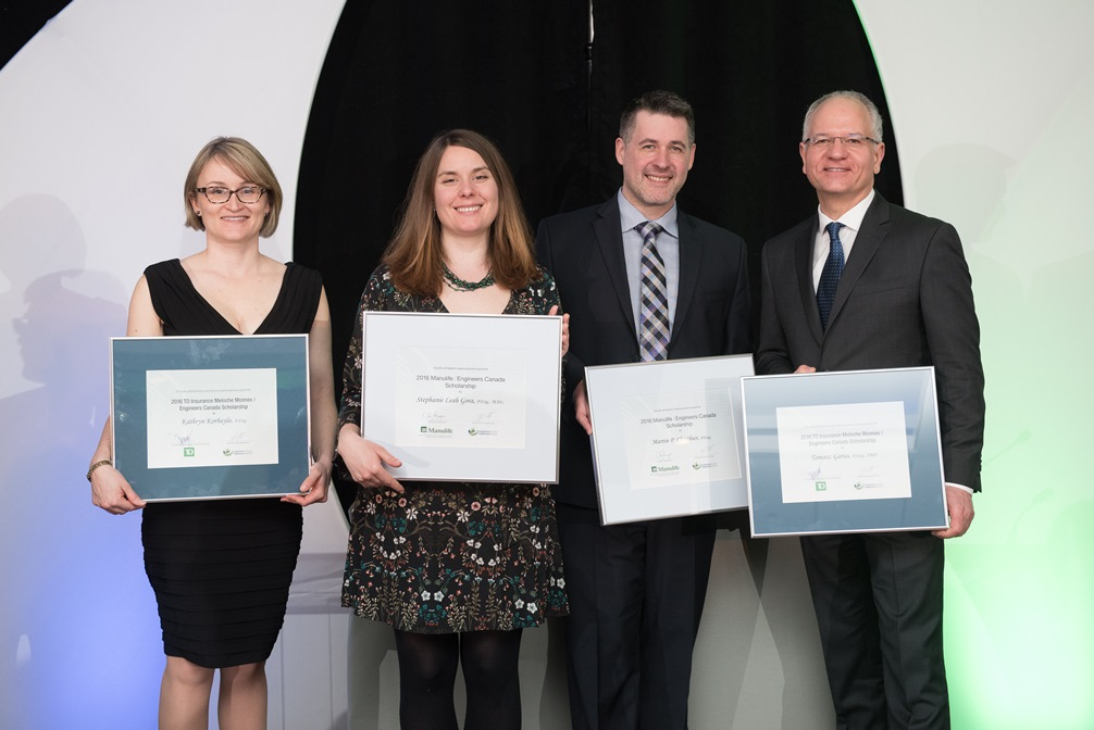 2016 Engineers Canada scholarship winners